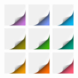 Fototapety White Post-it Grid Background #Vector Graphics