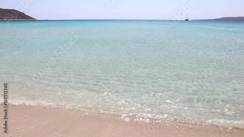 landscape of Simos beach Elafonisos Peloponnese Greece