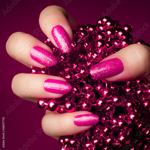 Poster Manicure pink nails manicure
