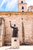 Monument of St. Francis, Havana, Cuba. Vertical. Copy space for text.
