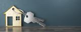 Fototapety Chiavi con porta chiavi a forma di casa