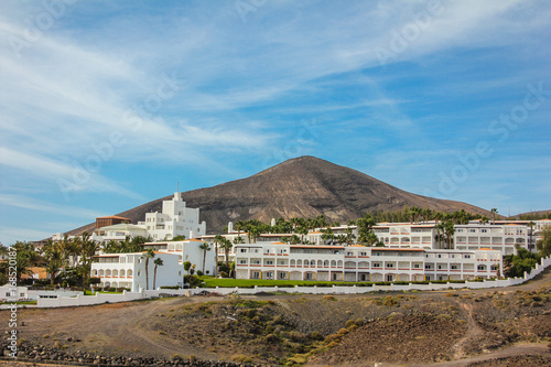 Aluminium Canarische Eilanden Resort landscape in Fuerteventura, Canary islands