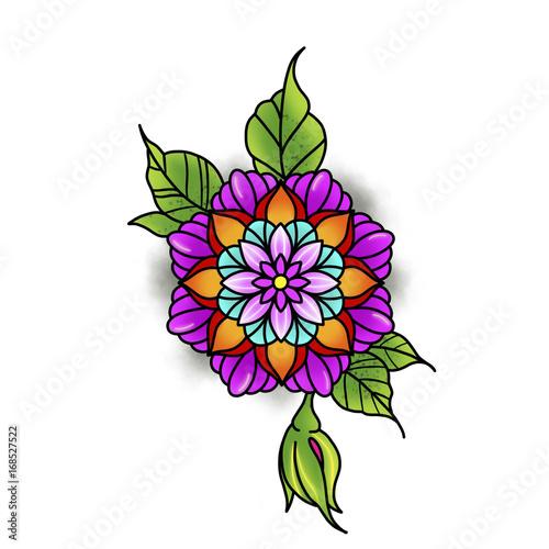 Flower mandala Poster