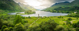 Fototapety Glenfinnan Monument, at the head of Loch Shiel, Inverness-shire, Scotland.