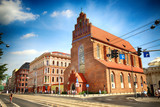 WROCLAW, POLAND - AUGUST 18, 2017: Wroclaw Old Town. Swidnicka Street, most famous street in Wroclaw. Historic buildings on a summer day.