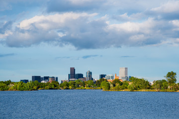 Sloan Lake and Denver, Colorado in the background