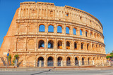 Beautiful landscape of the Colosseum in Rome- one of wonders of the world  in the morning time. - 168564725