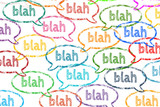 Blah speech bubbles