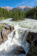 Jasper National Park, Sunwapta falls in Canadian Rockies