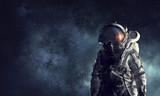 Fototapety Adventure of spaceman. Mixed media