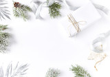 An Arrangement of Christmas Decorations and a Gift Box - 168615984