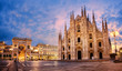Quadro Milan Cathedral on sunrise, Italy