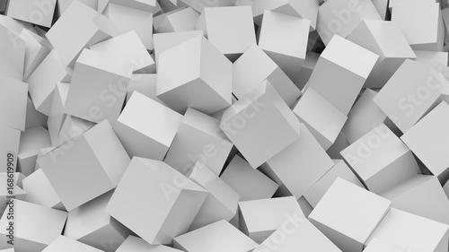 White cubes background. 3D Rendering. © Vlad Chorniy