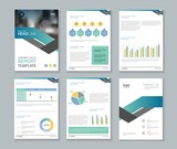 company profile ,annual report , brochure , flyer, page layout template,and business info chart element template - 168621793