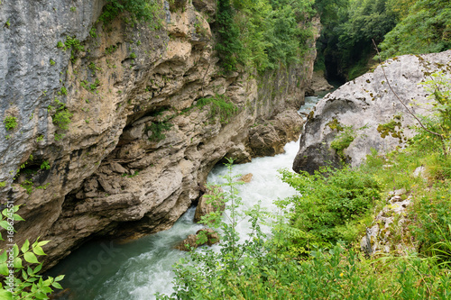 Aluminium Bergrivier Canyon of Belaya River in Republic of Adygea, Russia