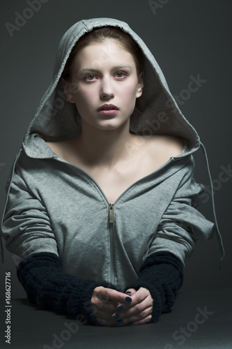 The girl in the hoodie Poster