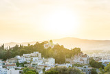 city view of old buildings in Athens, Greece