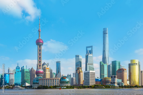 Architectural scenery and skyline of Shanghai Poster