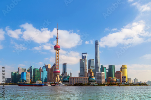 Keuken foto achterwand Shanghai Architectural scenery and skyline of Shanghai