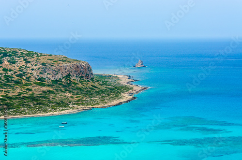 Foto op Canvas Turkoois Paradise beach balos at beautiful bay and coast - View over Balos Lagoon, island on Crete, Greece
