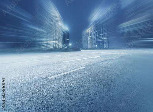 Fotobehang Nacht snelweg Architectural scenery and skyline of Shanghai