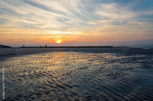 Foto op Canvas Noordzee Sonnenuntergang auf Wangerooge