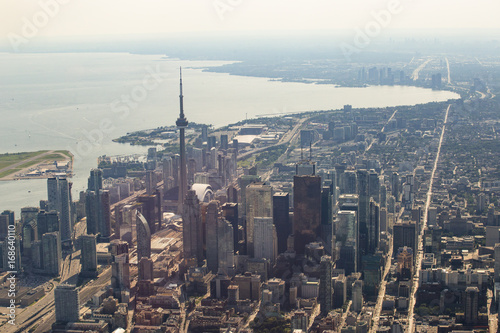 Aluminium Toronto Aerial View of Toronto Downtown Core