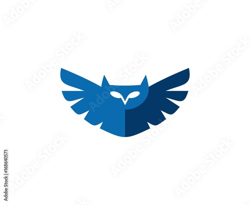 Foto op Plexiglas Uilen cartoon Owl logo