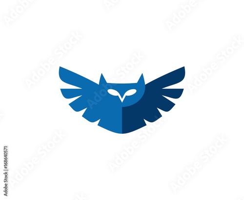 Fotobehang Uilen cartoon Owl logo