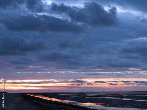 Aluminium Noordzee Abendstimmung an der Nordsee