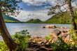 This is Jordan Pond located in Acadia National Park in Maine near Bar Harbor.