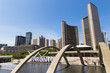 Nathan Phillips Square on Sunny Day in Toronto, Ontario, Canada