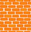 Seamless texture of a cartoon brick wall - 168656326