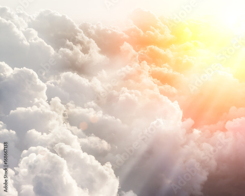Beautiful blue sky background - 168667138
