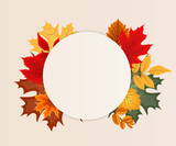 Abstract Vector Illustration Background with Falling Autumn Leav - 168667779