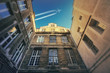 The courtyard and the plane