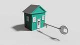 maison, clé et serrure - 168677733