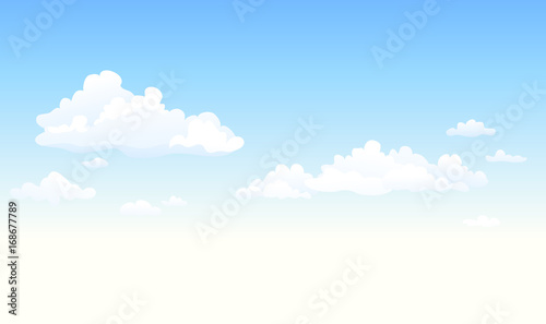 Fluffy clouds background © Merggy