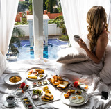 Luxury Travel Lifestyle Breakfast View - 168689598