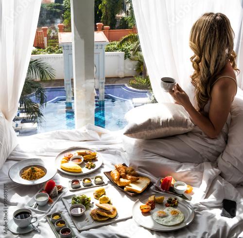 Luxury Travel Lifestyle Breakfast View