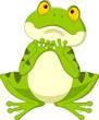 Cartoon frog hoping for rain
