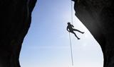 Mountain Climber Silhouette - 168703772