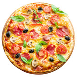 Pizza. Clipping path.