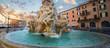 Fountain of the Four Rivers (Fontana dei Quattro Fiumi) in the Piazza Navona, Rome. Italy