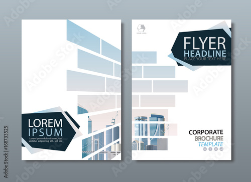annual report brochure flyer design template vector leaflet cover