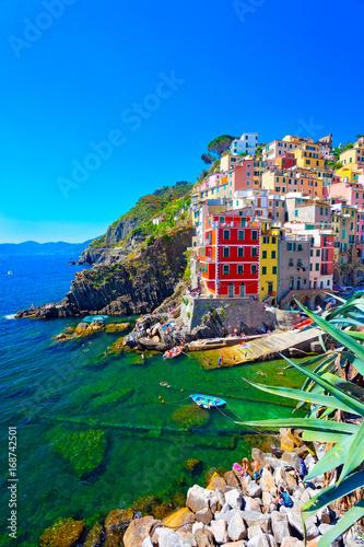 Fotobehang Liguria Riomaggiore, Cinque Terre, Italien