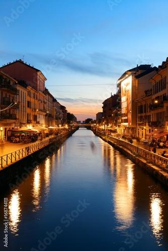 Foto op Canvas Milan Naviglio Grande canal
