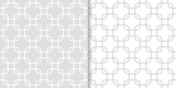 Geometric gray set of seamless patterns