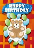 Illustration Invitation Card Happy Birthday