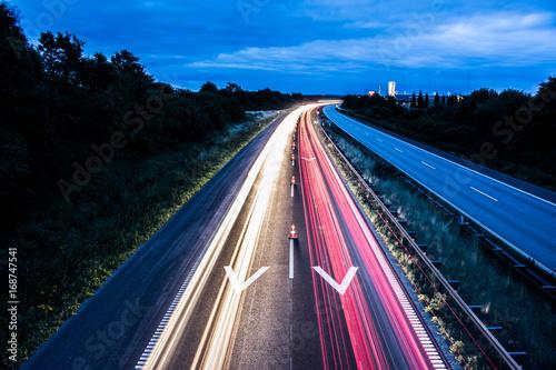 Fotobehang Nacht snelweg Highway